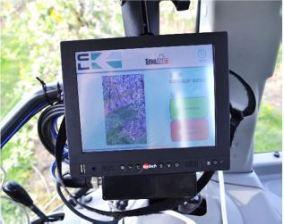 Fruit-Tec Darwin SmaArt fedélzeti számítógép kijelzője